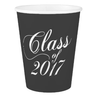 Modern Charcoal | Graduation Paper Cup