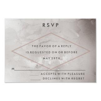 Modern Charcoal Watercolor Wedding RSVP Card 9 Cm X 13 Cm Invitation Card