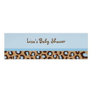 Modern Cheetah Print Baby Shower Banner Sign
