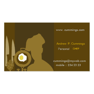 Modern  Chef & Personal Cook Business Card Template