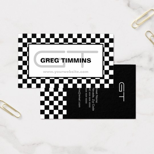 Modern Chequered Business Card