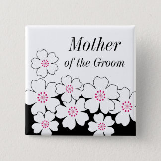 Modern Cherry Blossom Rehearsal Button