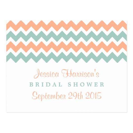 Modern Chevron Bridal Shower Recipe Cards