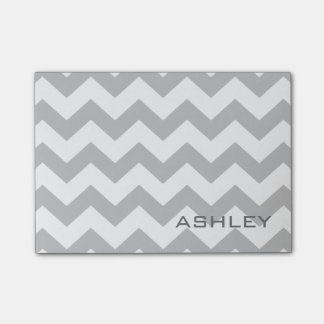 Modern Chevron Pattern with Custom Name Post-it Notes