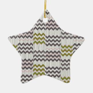 Modern Chevron Zig Zag Geometric Pattern Christmas Ornament