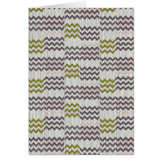 Modern Chevron Zig Zag Geometric Pattern Greeting Card