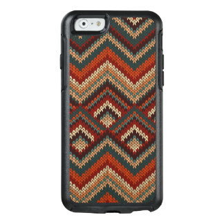 Modern Chevron Zig Zag Stripes Knitting Pattern OtterBox iPhone 6/6s Case