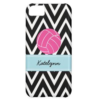 Modern Chevron Zigzag Pink Volleyball iPhone 5C iPhone 5C Case