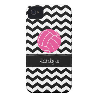 Modern Chevron Zigzag Volleyball iPhone 4 Case