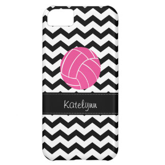 Modern Chevron Zigzag Volleyball iPhone 5C Case