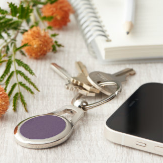 Modern Chic Acai Violet Fashion Trends Solid Color Keychain