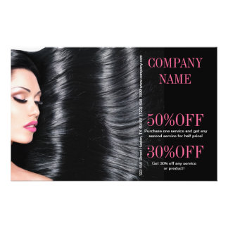 modern chic  beauty salon Hair Stylist 14 Cm X 21.5 Cm Flyer