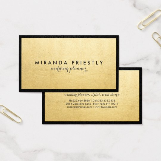 Modern Chic Black and Faux Gold Foil Luxe