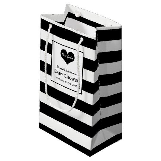 Modern Chic Black & White Baby Shower Small