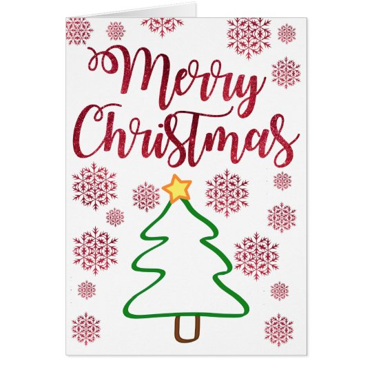 Modern Chic Christmas Greeting Card