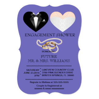 Modern Chic Couple Hearts Engagement Shower Invite