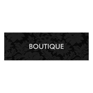 Modern Chic Dark Lace Fashion Boutique Pack Of Skinny Business Cards