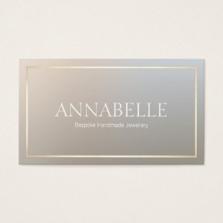 Modern Chic Designer Gold Border Business Card