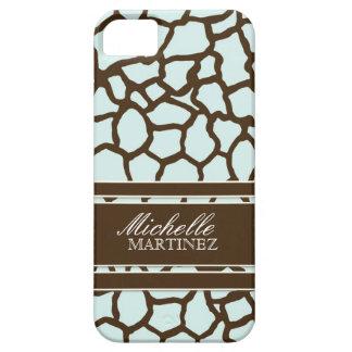 Modern Chic Fashion Giraffe Skin Pattern Phone Barely There iPhone 5 Case
