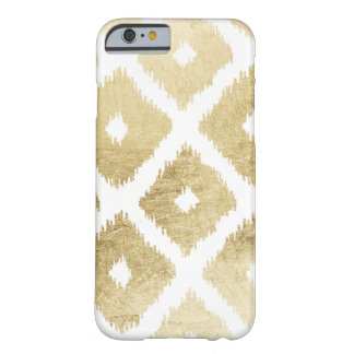 Modern chic faux gold leaf ikat pattern barely there iPhone 6 case