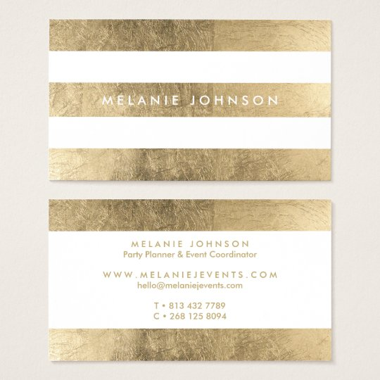 Modern chic faux gold stripes pattern professional business