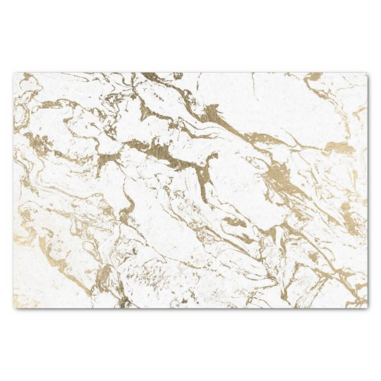 modern chic faux gold white marble pattern tissue paper zazzle co uk