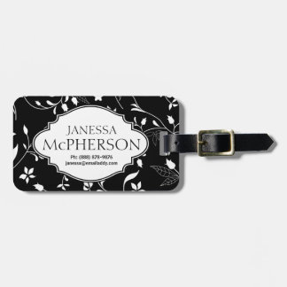 Modern Chic Floral Pattern Personalized Luggage Tag