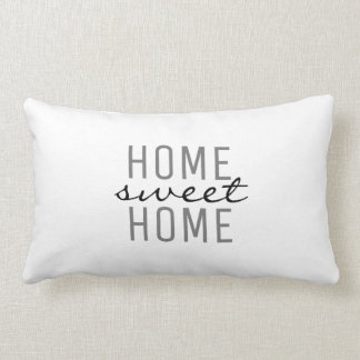 Modern chic fresh white Home Sweet Family Lumbar Cushion