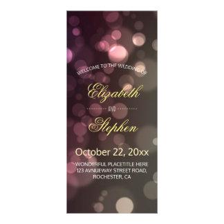 Modern Chic Glitter Bokeh Sparkle Wedding Program Full Colour Rack Card