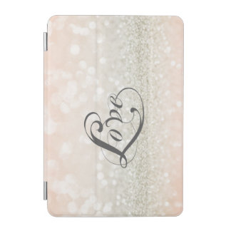 Modern Chic Glittery-Love iPad Mini Cover