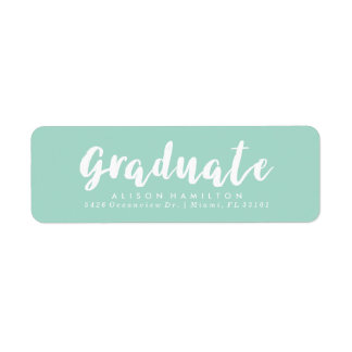 Modern Chic Graduation Address Labels