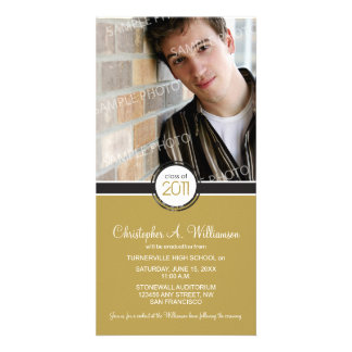 Modern Chic Graduation Announcement (camel) Customised Photo Card