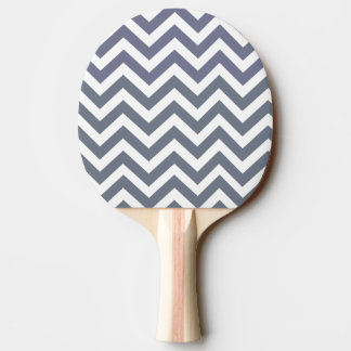 Modern Chic Gray White Lines Pattern Ping Pong Paddle