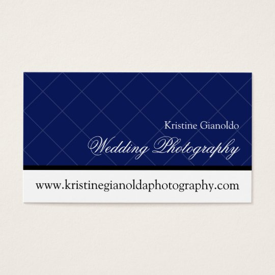 Modern Chic Grid Wedding Photography Business Card