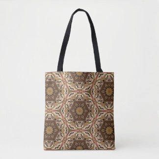 Modern Chic Mandala Geometric Earthtones Pattern Tote Bag