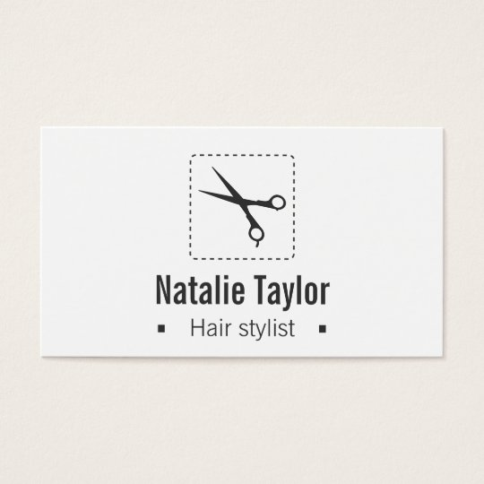 Modern, Chic, Minimalist, Hair Stylist Business Card