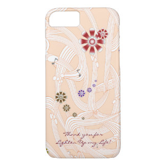 Modern Chic Monogram Flower with Twisted Melody iPhone 8/7 Case