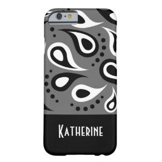 Modern Chic Paisley Pattern Custom Monogram Barely There iPhone 6 Case