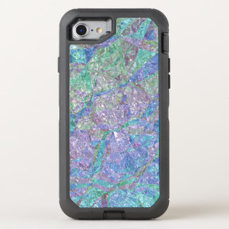 Modern Chic Pastel Colors Marble Mosaic Pattern OtterBox Defender iPhone 8/7 Case