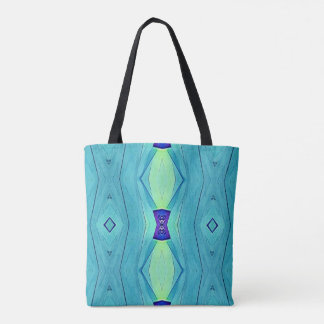 Modern Chic Pastel Teal Mint Purple Beach Tote