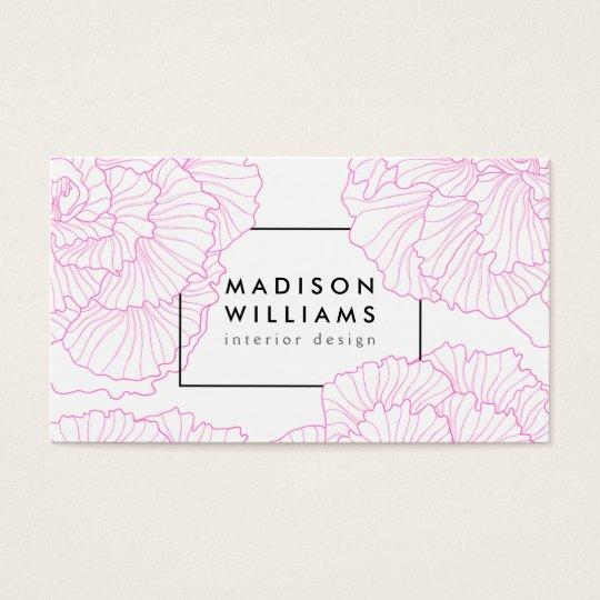 Modern chic pink vintage floral motif pattern cute