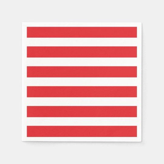 Modern Chic Red Stripe Party Napkins Paper Napkin