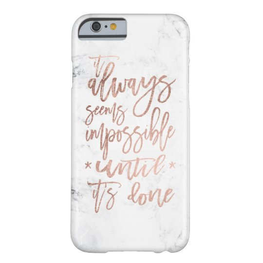 Modern chic rose gold typography cool white marble