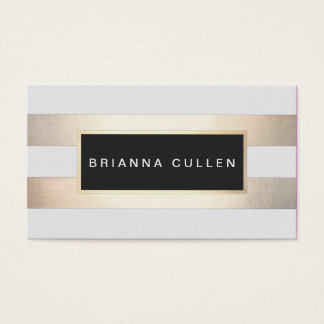 Modern Chic Striped Gold Foil (image) and Black