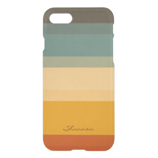Modern Chic Stripes Clear iPhone 7 case