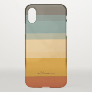 Modern Chic Stripes Clear iPhone case