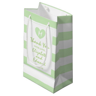 Modern Chic Tea Green Wedding Small Gift Bag
