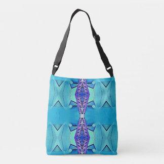 Modern Chic  Teal Lavender Classy Pattern Crossbody Bag