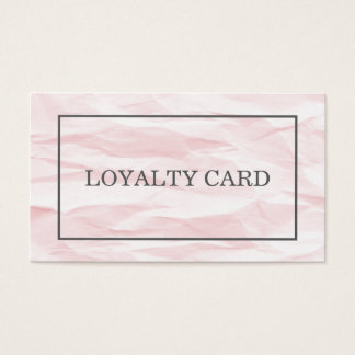 Modern Chic Texture Light Pink Grey Loyalty Card