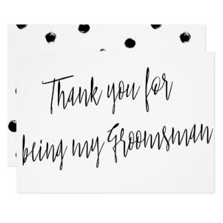"Modern Chic ""Thank you for being my groomsman"" 13 Cm X 18 Cm Invitation Card"